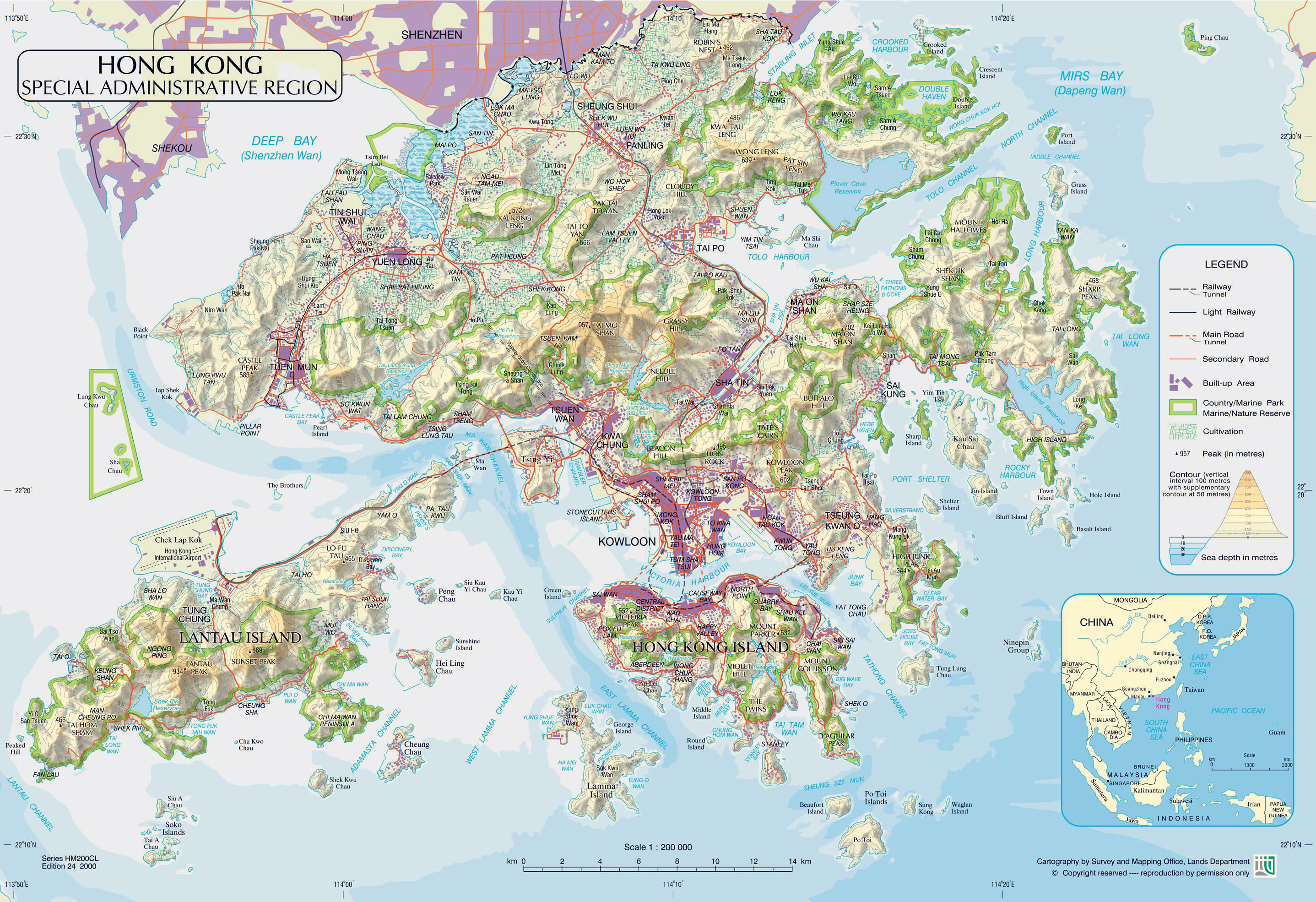 large-physical-map-of-hong-kong-with-roads-railroads-relief-and-parks